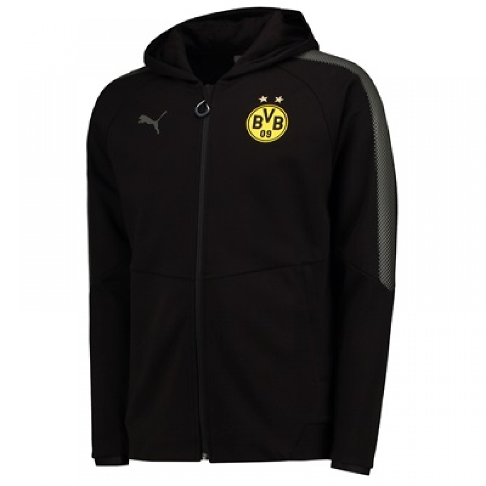 3eb497108 Borussia Dortmund 2017-2018 Casuals Hoodie (Black)  75201802 ...