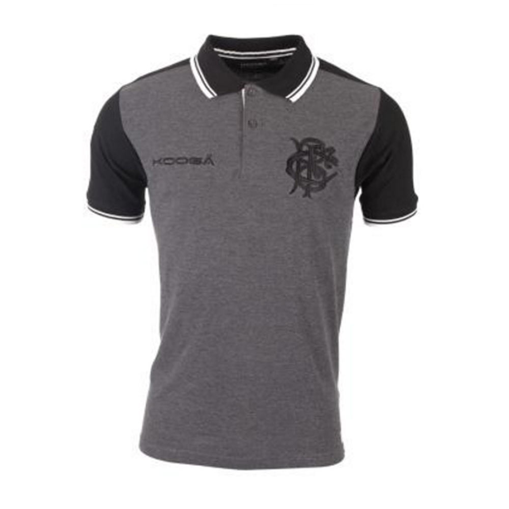 4c843d0b8 2016-2017 Barbarians Contrast Sleeve Polo Shirt (Charcoal)  BB109  -  35.00  Teamzo.com