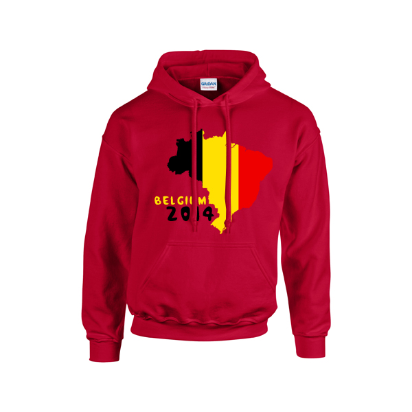 8e55d1248 Belgium 2014 Country Flag Hoody (red)  HOODYRED  - £20.00 Teamzo.com