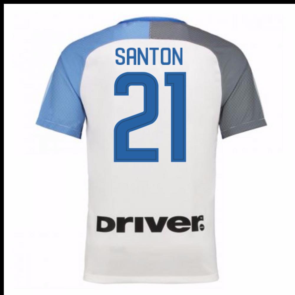 2017-18 Inter Milan Away Shirt (Santon 21) - Kids  847397-101-98670 ... 892dd859b