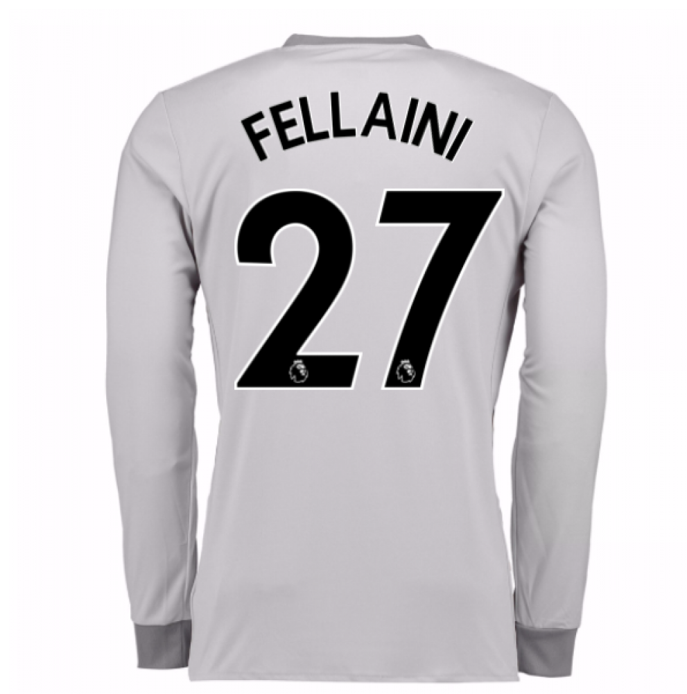 5446b1bc2 2017-2018 Man United Long Sleeve Third Shirt (Fellaini 27) - Kids   AZ7561-97863  -  78.47 Teamzo.com