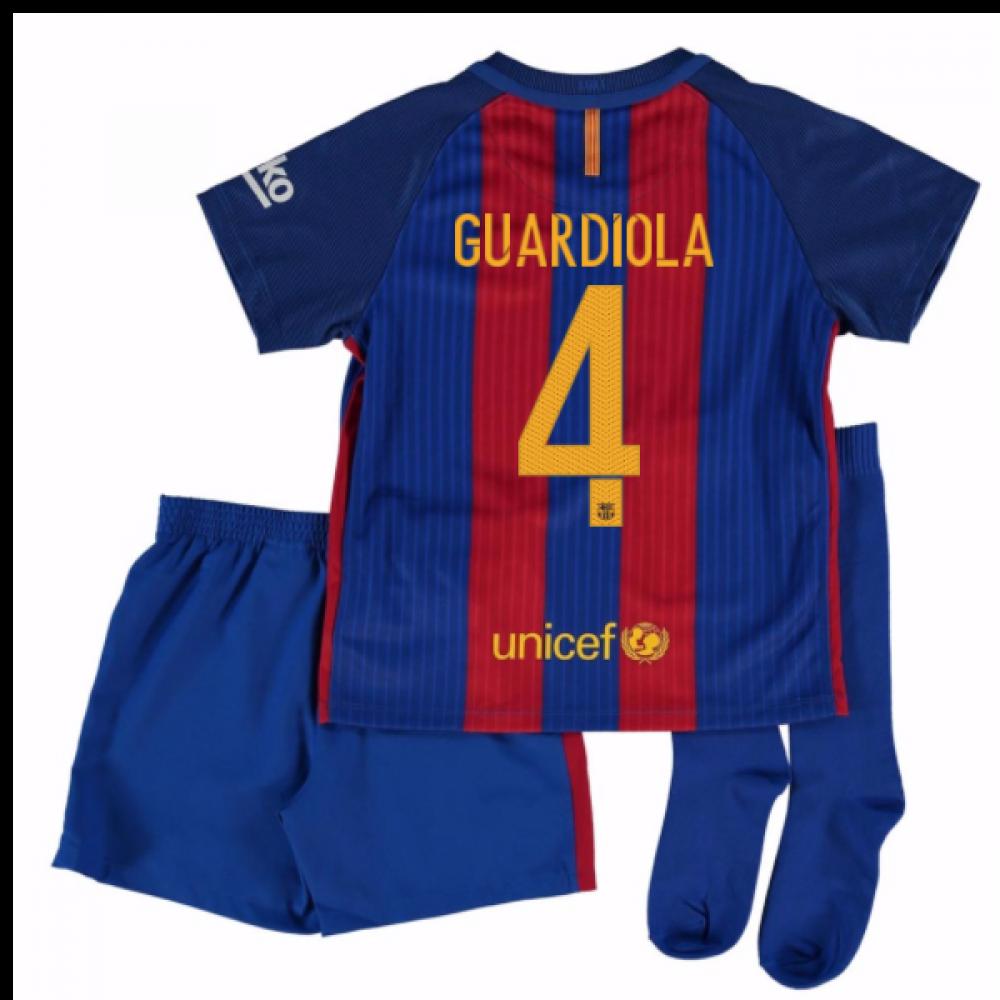 a1224faa304f 2016-17 Barcelona Home Little Boys Mini Kit (With Sponsor) (Guardiola 4)   776733-415-89102  - £59.99 Teamzo.com