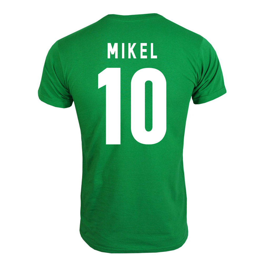 2013 Nigeria CAF Winners T-Shirt (Green) - Mikel 10