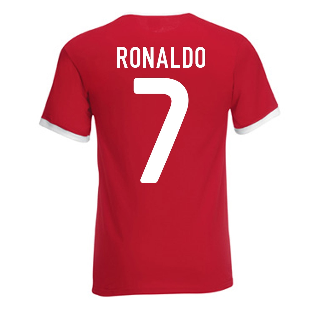 new product 11c62 deb72 Cristiano Ronaldo Portugal Ringer Tee (red)