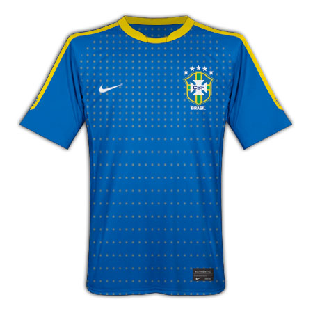 2010-11 Brazil Nike World Cup Away Shirt (Kids)