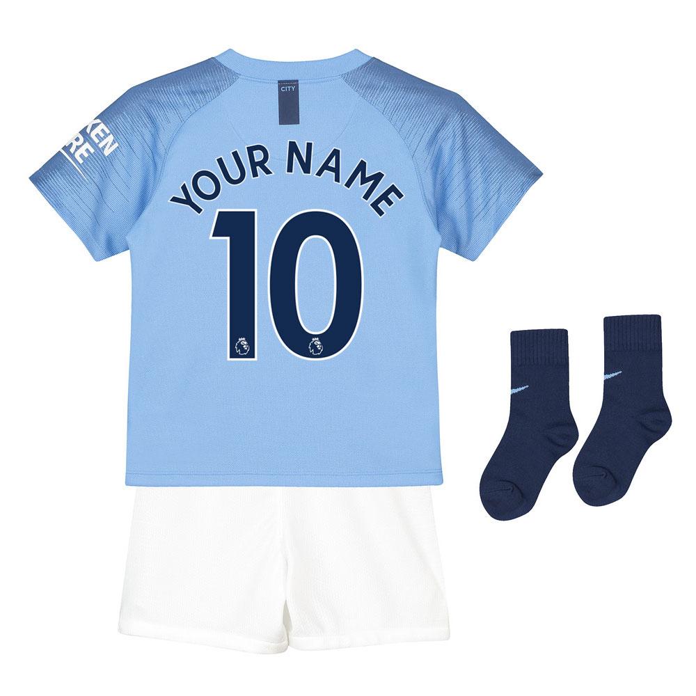 81f88f34d 2018-2019 Man City Home Nike Little Boys Mini Kit (Your Name ...