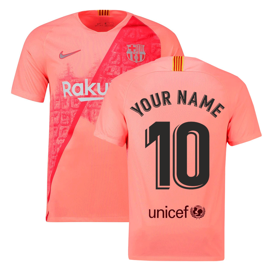 new product 701ae b7530 2018-2019 Barcelona Third Nike Football Shirt (Your Name)