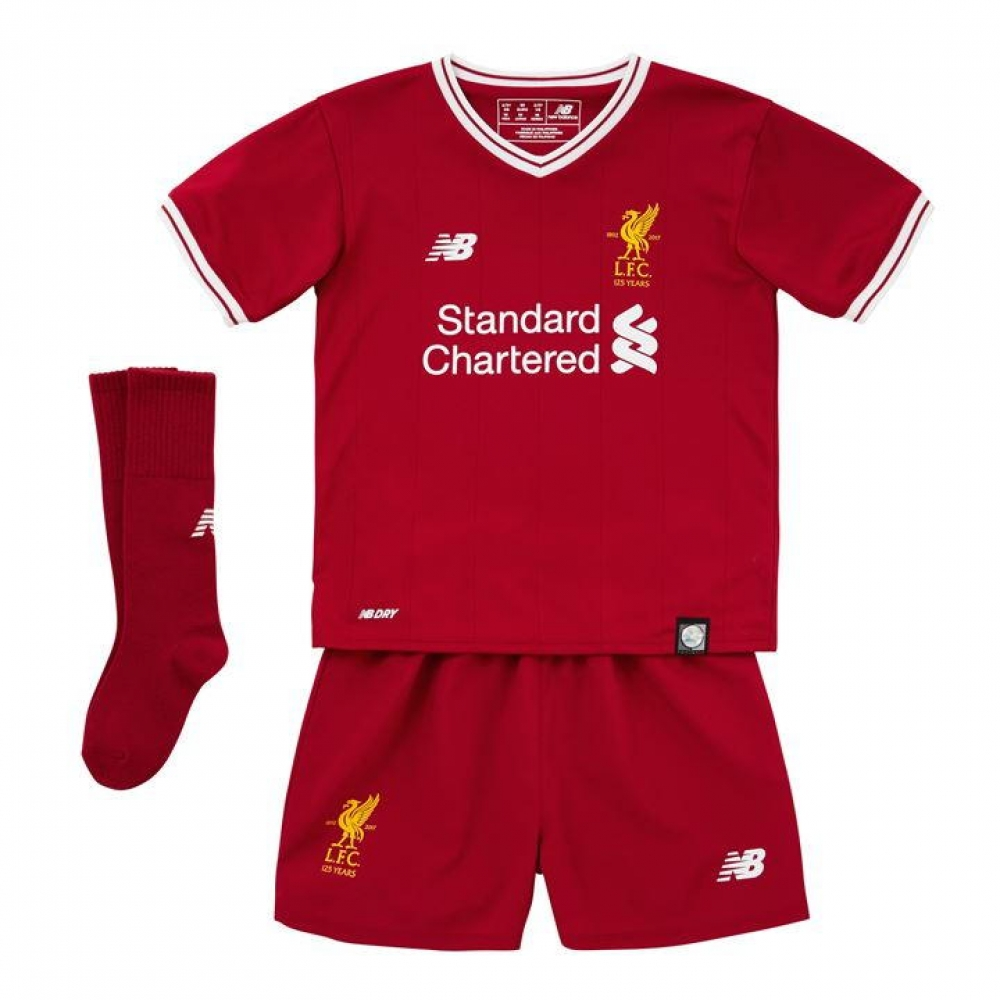 48bffc978d5 Liverpool 2017-2018 Home Little Boys Mini Kit [IY730128] - $50.81 Teamzo.com