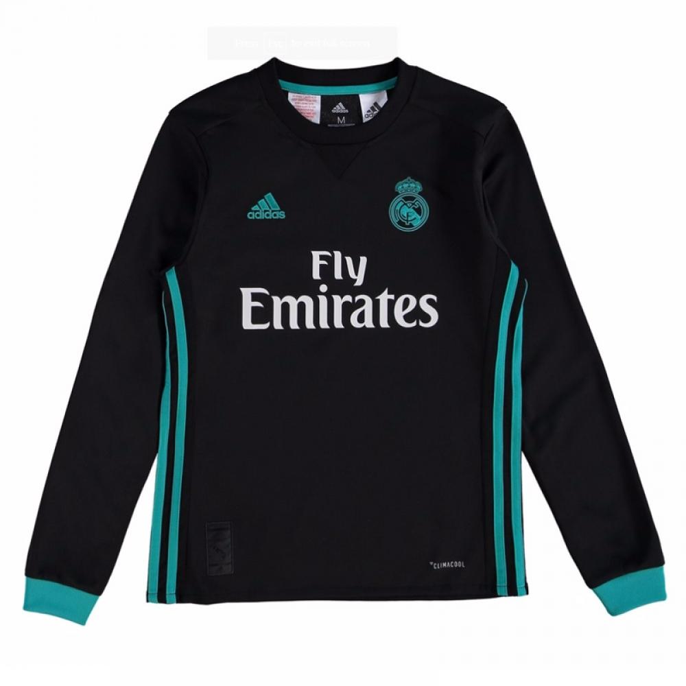 203b65f2e Real Madrid 2017-2018 Away Long Sleeve Shirt (Kids)  B31093 ...