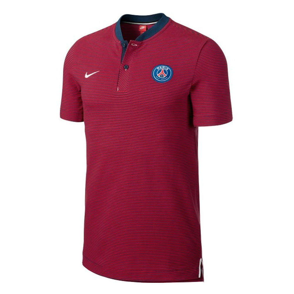 psg 2017 2018 authentic league polo shirt red 867821 410