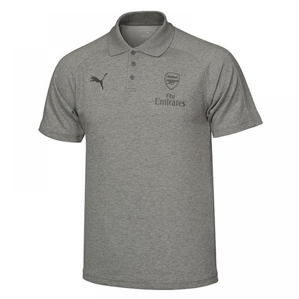 Arsenal 2017 2018 casual performance polo shirt grey for Arsenal t shirts sale