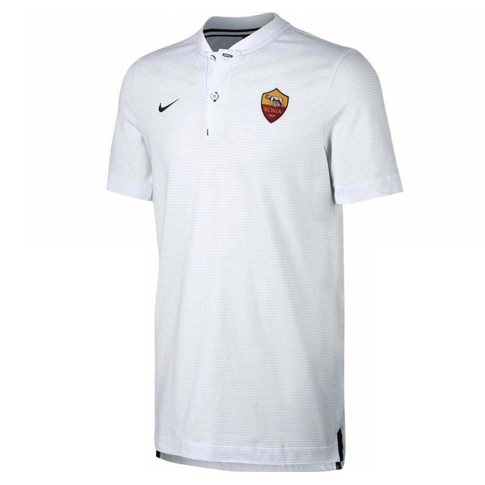 aa78821ec08 AS Roma 2017-2018 Authentic Grand Slam Polo Shirt (White)  867820 ...