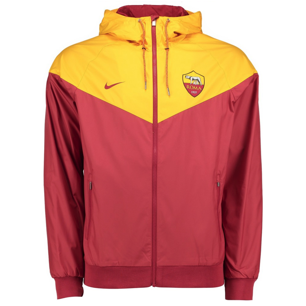 as roma 2017 2018 authentic windrunner jacket team red. Black Bedroom Furniture Sets. Home Design Ideas