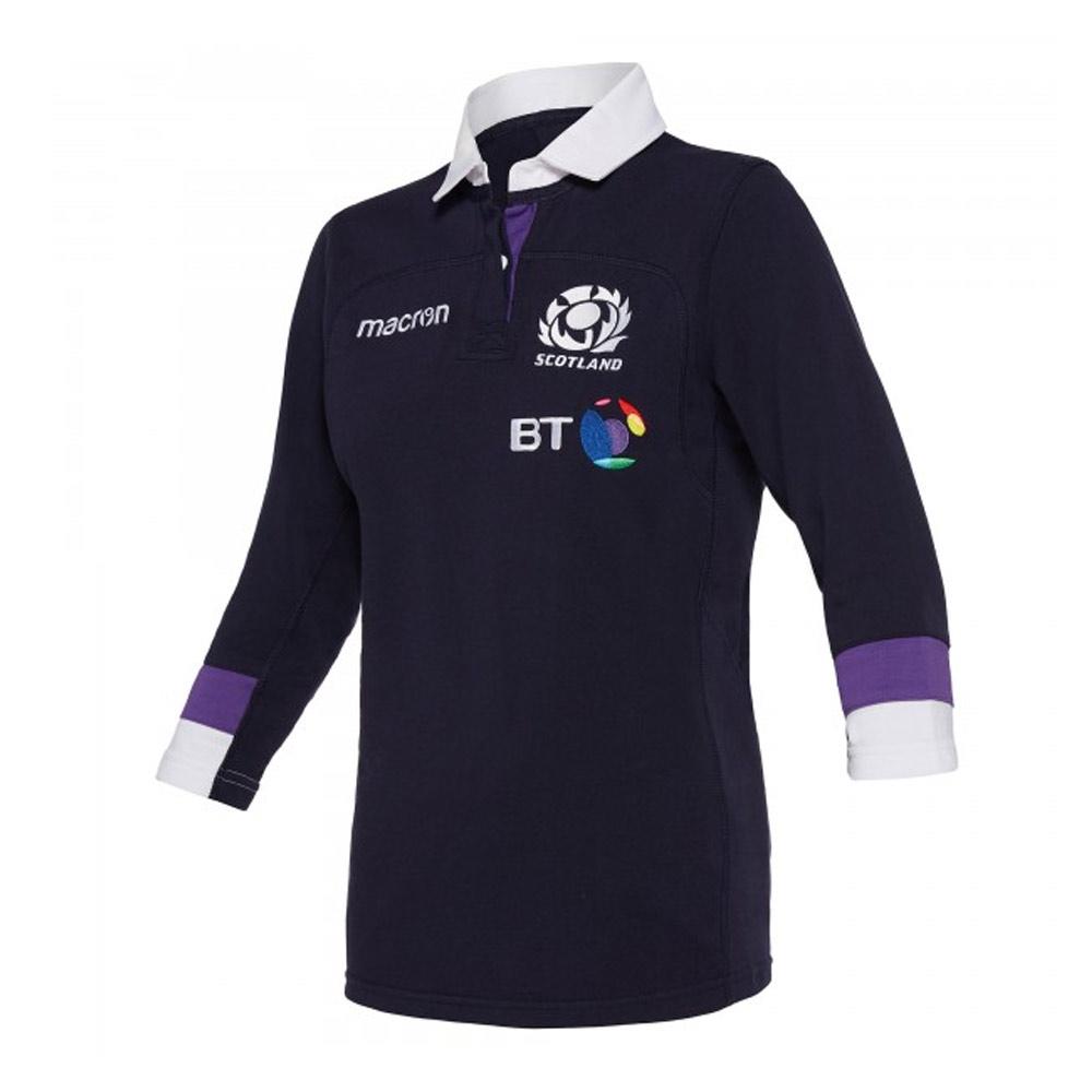 2017-2018 Scotland Macron Home Womens Cotton Rugby Shirt ...