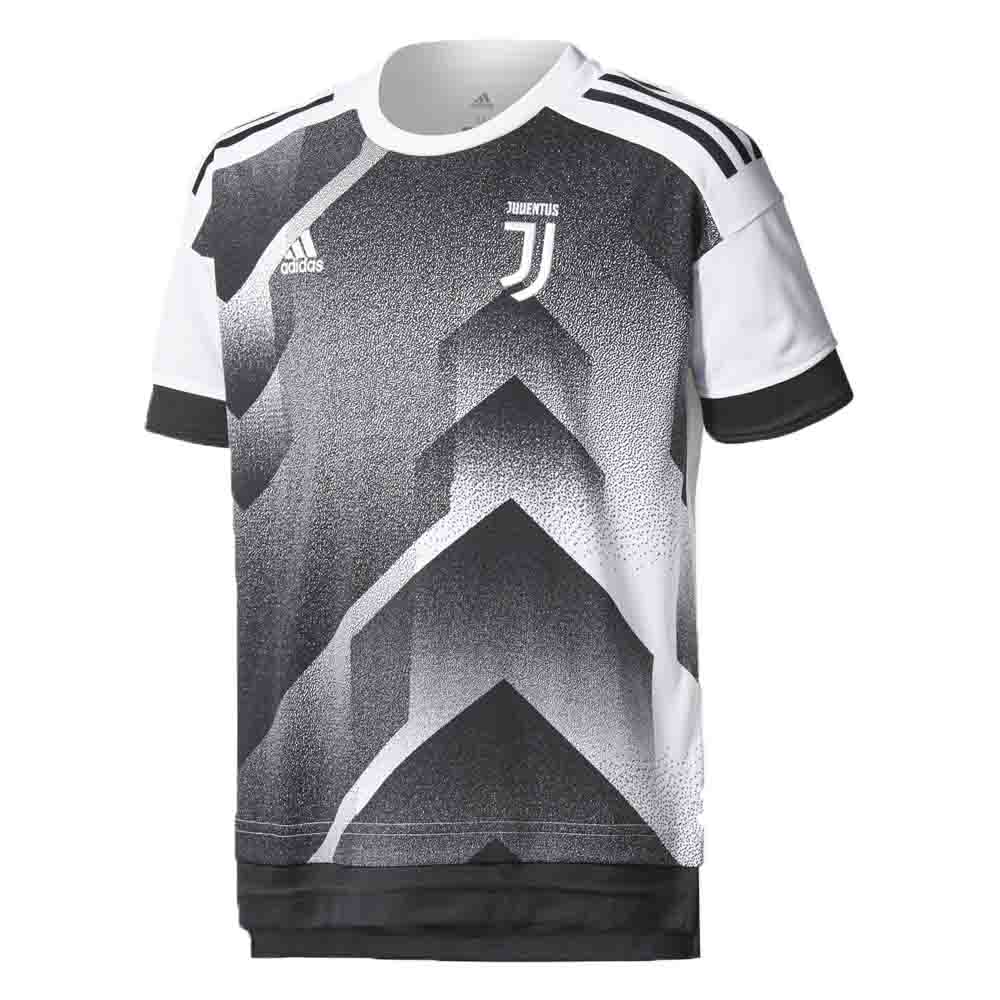 7cff2a733f0 Juventus 2017-2018 Pre-Match Training Shirt (Black-White) - Kids ...