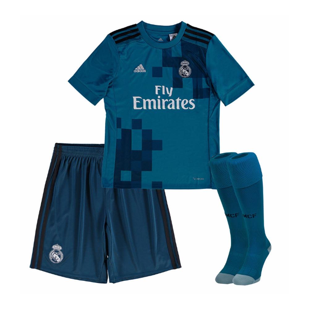 sports shoes 8f11d 1b0b5 Real Madrid 2017-2018 Third Full Kit (Kids)