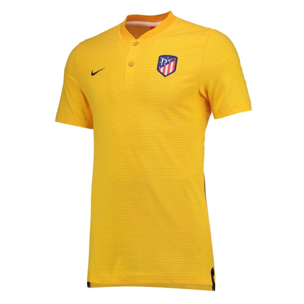 more photos c93bd 91d5d Atletico Madrid 2017-2018 Authentic Grand Slam Polo Shirt (Gold)
