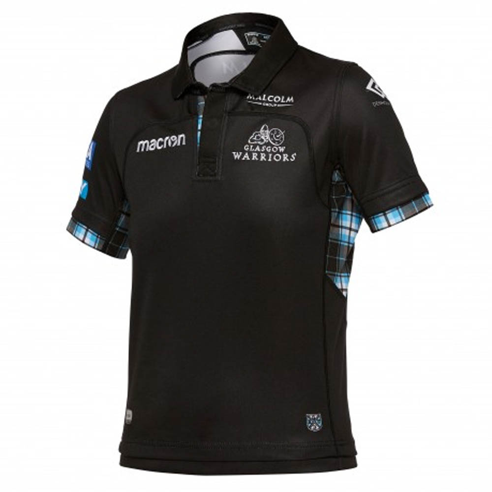 2017-2018 Glasgow Warriors Home Pro Rugby Shirt (Kids