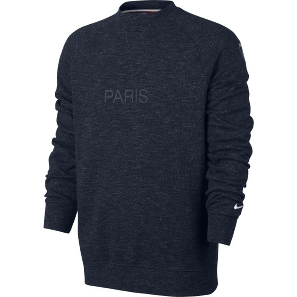 psg 2017 2018 crew neck sweat top navy 889608 473. Black Bedroom Furniture Sets. Home Design Ideas