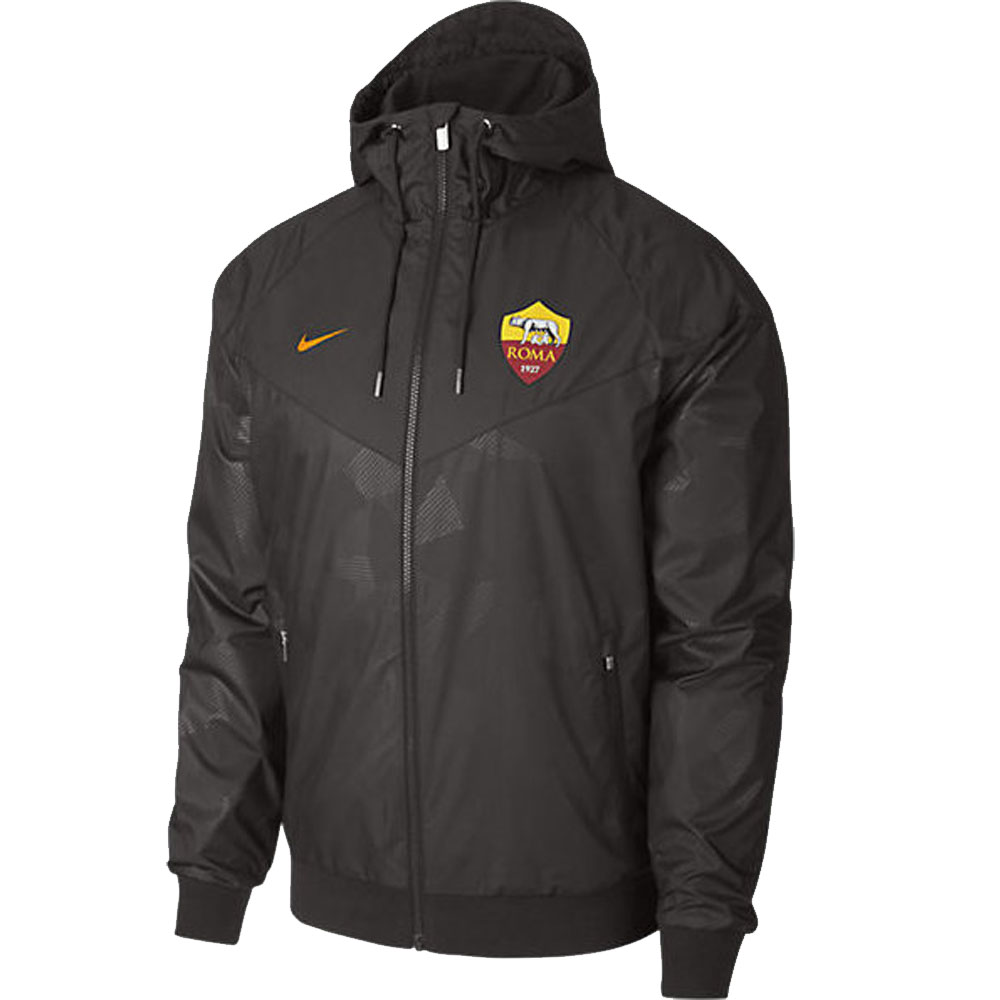 as roma 2017 2018 authentic windrunner jacket brown. Black Bedroom Furniture Sets. Home Design Ideas