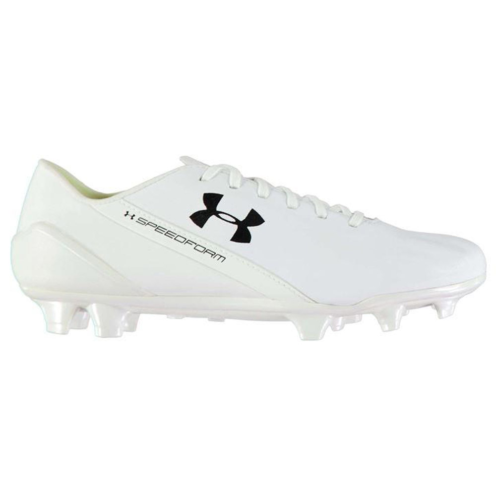 2cc67cd8c Under Armour SpeedForm Leather FG Football Boots Mens (White ...