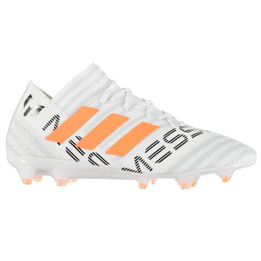 43d160e3bbd1 Adidas Nemeziz Messi 17.1 Mens FG Football Boots (White-Orange ...
