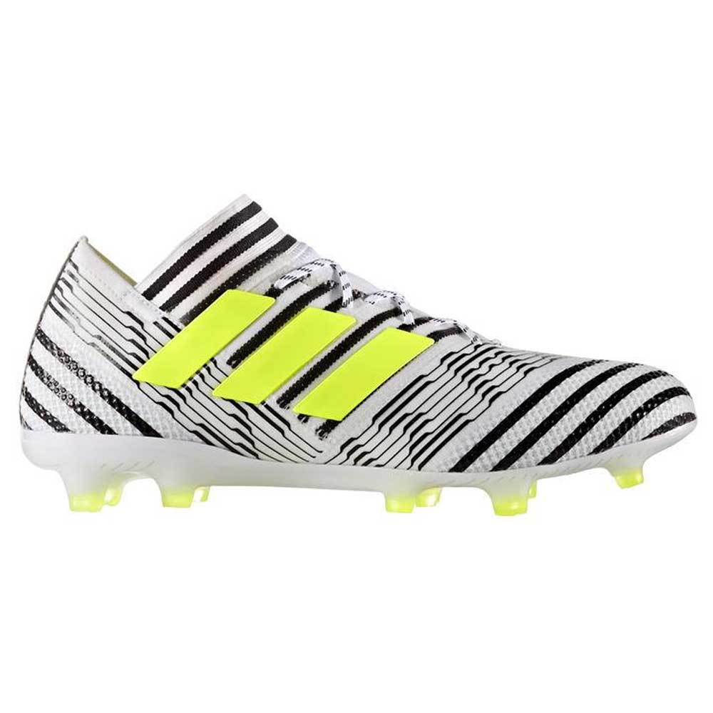 9b2ce602290d Adidas Nemeziz 17.1 FG Mens Football Boots (White-Yellow) -  248.89 ...