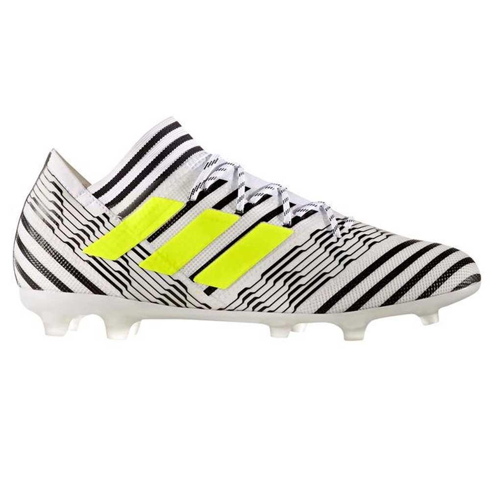 d50cac97a90 Adidas Nemeziz 17.2 FG Mens Football Boot (White-Yellow) -  170.39 ...