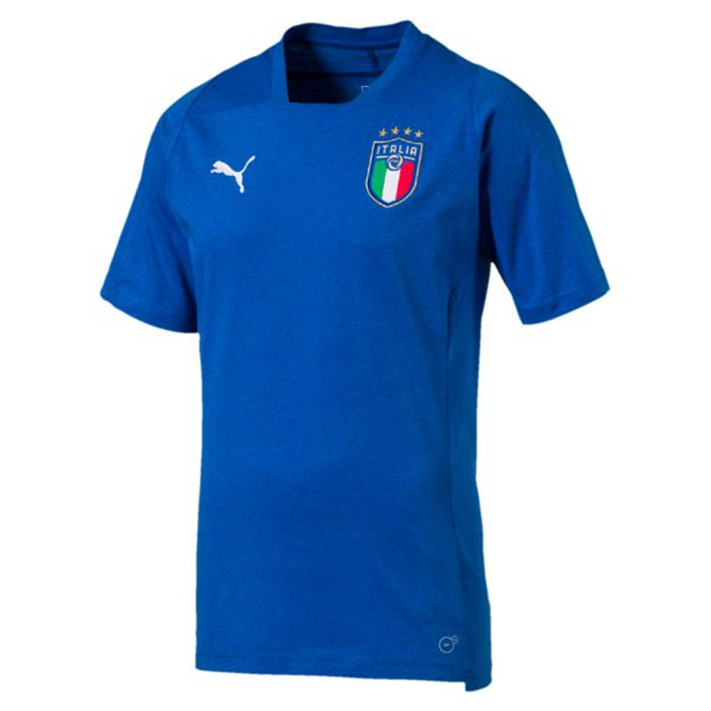 2018 2019 italy puma casual performance shirt blue for Shirts made in italy