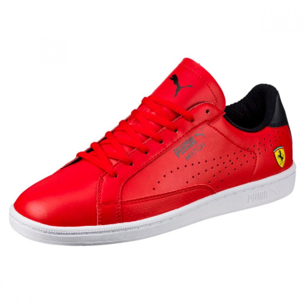 Puma Ferrari Evo Match Mens Trainers Red 30600201