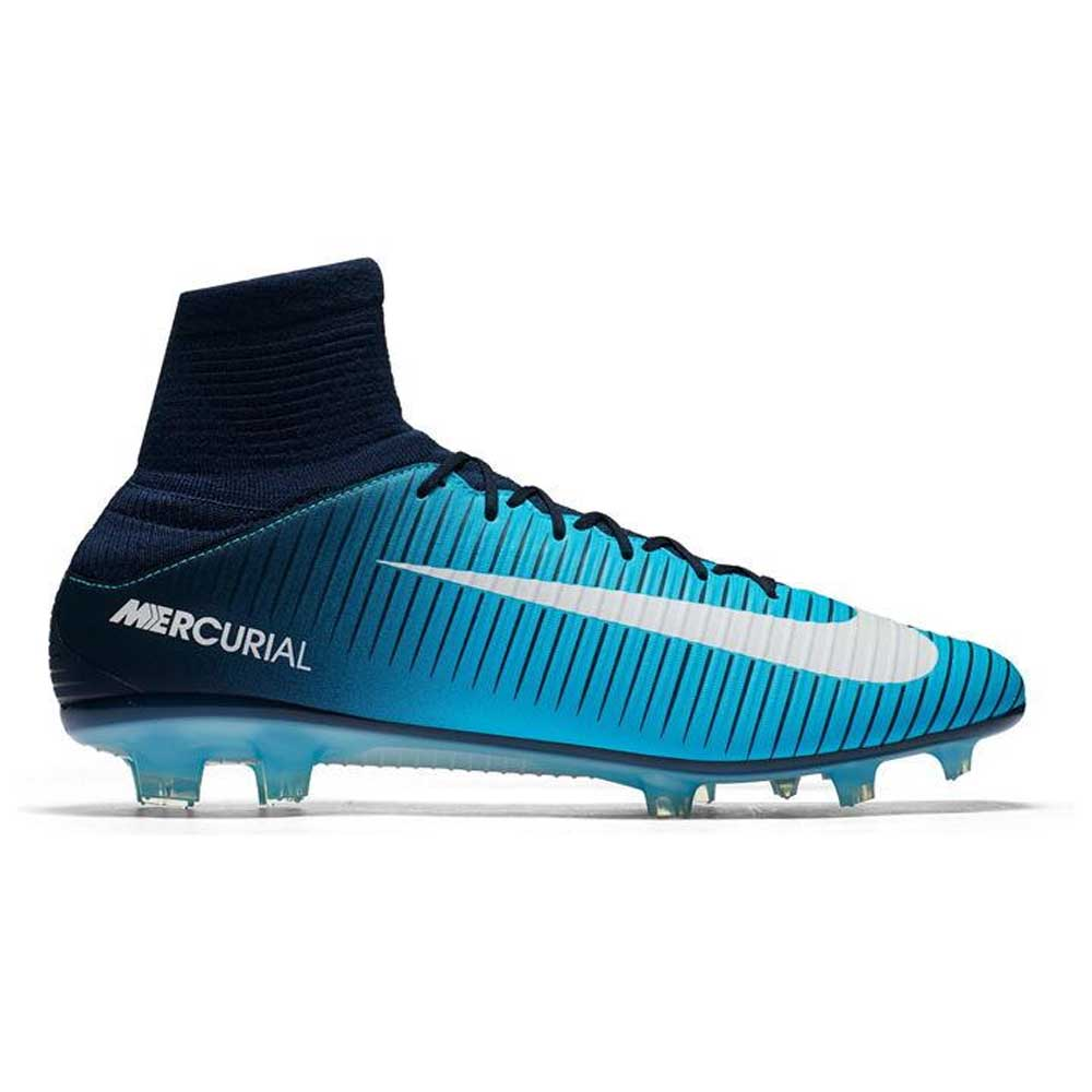 e351d12a8eea Nike Mercurial Veloce DF Mens FG Football Boots (Navy-White ...