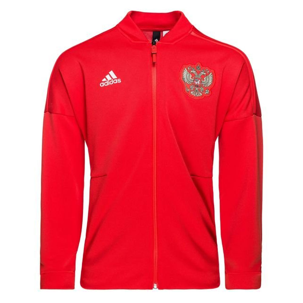 d0837f0bbce Russia 2018-2019 ZNE Knitted Anthem Jacket (Red) [CF0579] - $89.05  Teamzo.com