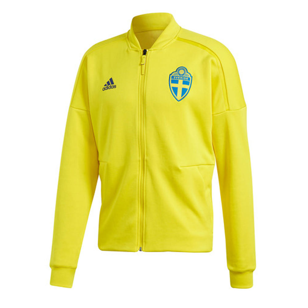 f8c242a43a7 Sweden 2018-2019 ZNE Knitted Anthem Jacket (Yellow) [CF1666 ...