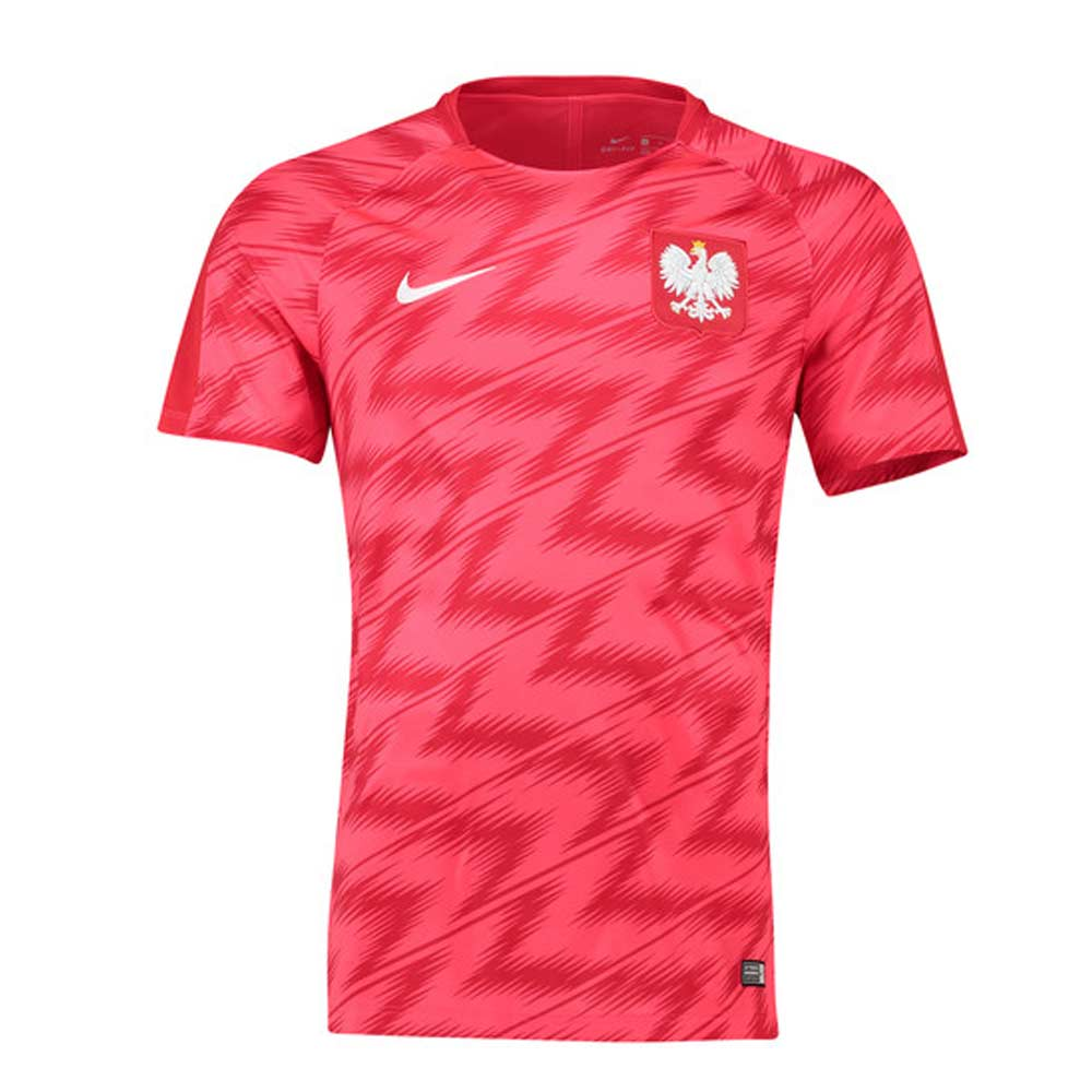 51c21f08516 Poland 2018-2019 Pre-Match Training Shirt (Red)  893365-653 ...