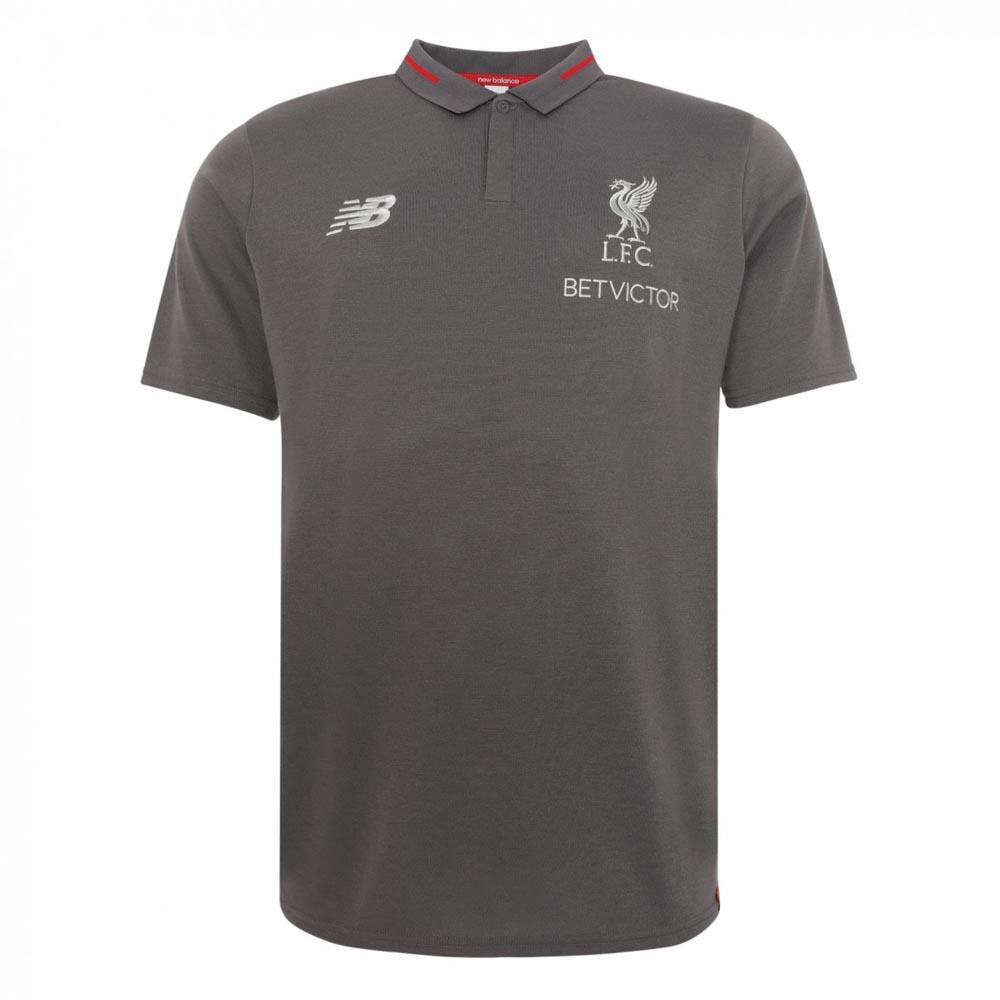 aea69654602 Liverpool 2018-2019 Elite Essential Polo Shirt (Grey) -  52.04 ...