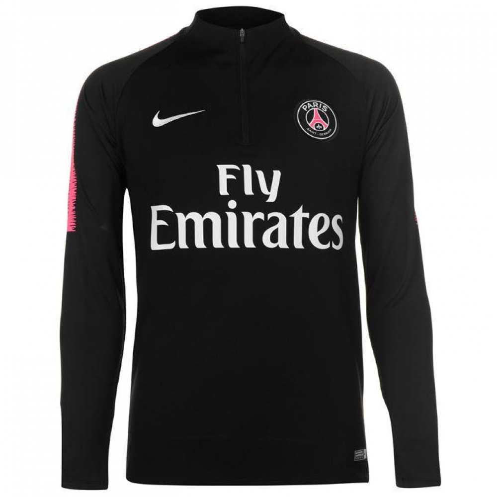 0d3792bf8887a8 PSG 2018-2019 Drill Top (Black) - Kids  894397-011  -  71.55 Teamzo.com