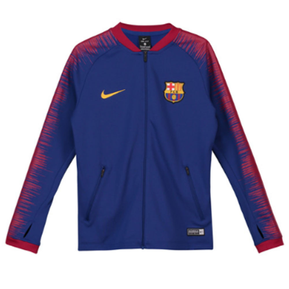 Barcelona 2018-2019 Anthem Jacket (Blue) - Kids