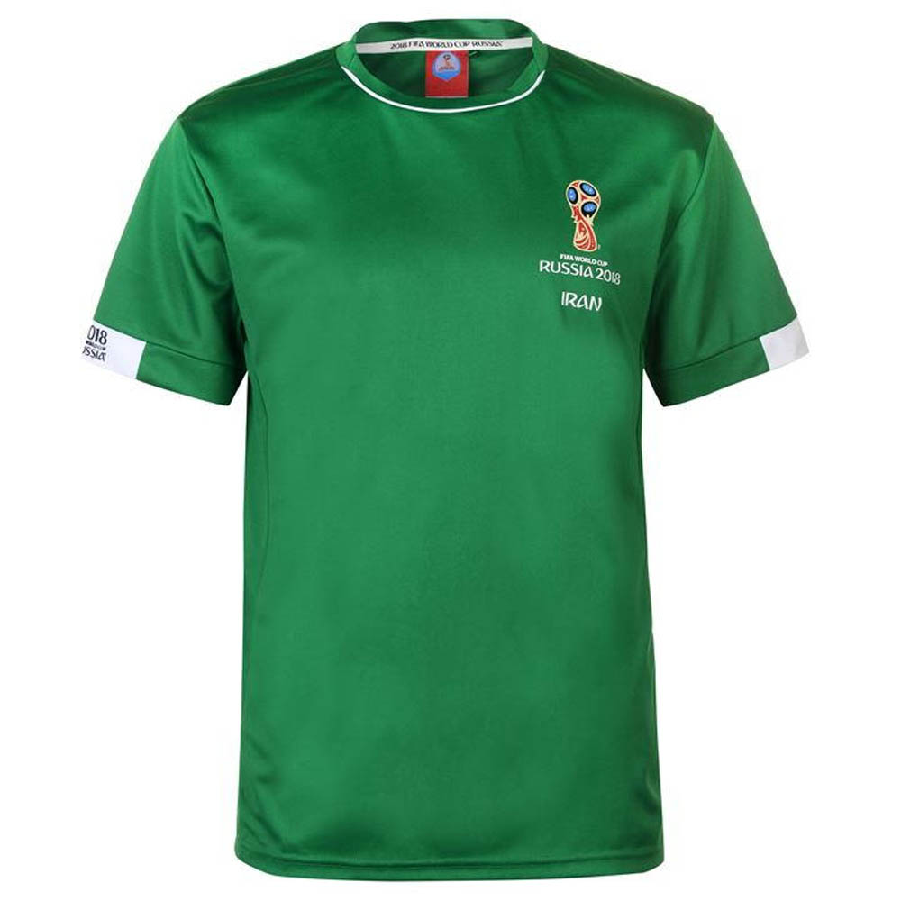 new products 92f1d 568c2 Iran FIFA World Cup 2018 Poly T Shirt Mens (Green)
