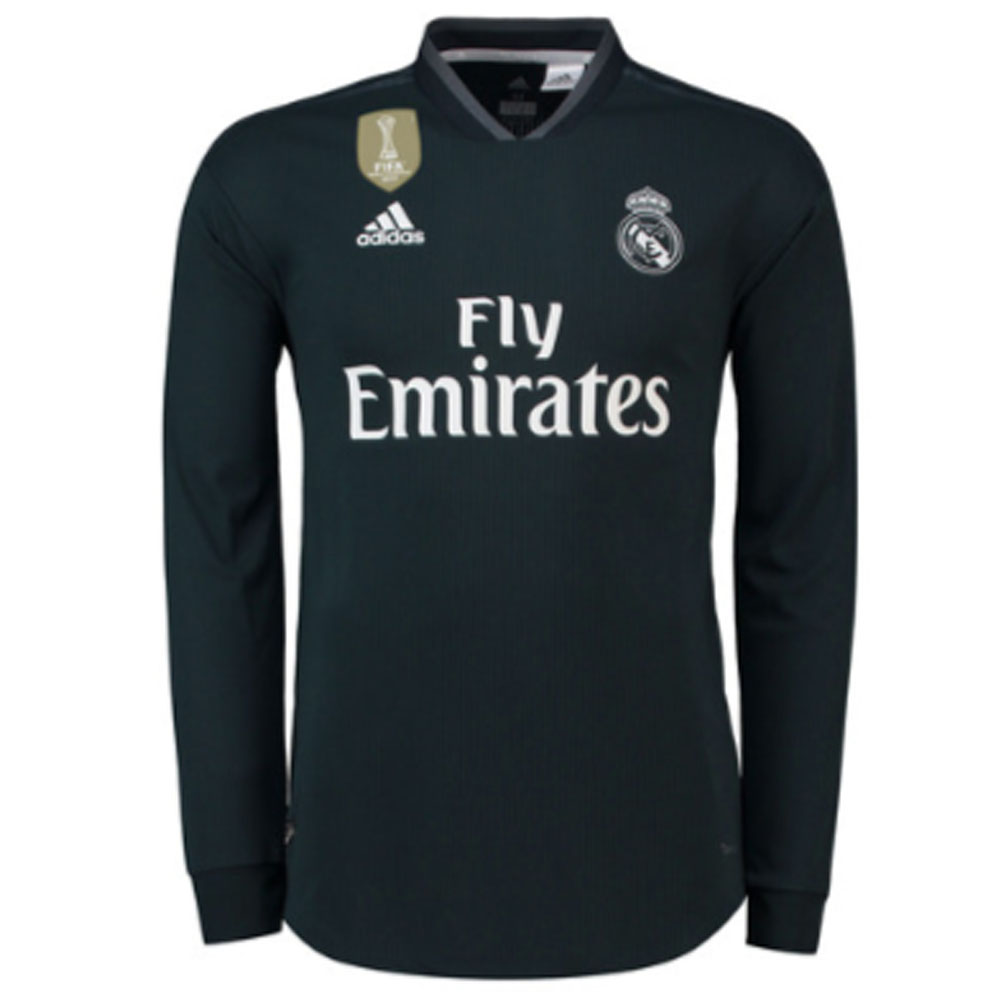 bff121795 Real Madrid 2018-2019 Authentic Away Long Sleeve Shirt [DQ0868] - $145.21  Teamzo.com