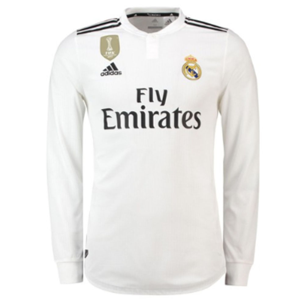 huge discount cd475 0b4e3 Real Madrid 2018-2019 Authentic Home Long Sleeve Shirt