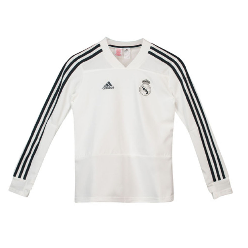 finest selection 05494 1a43e Real Madrid 2018-2019 Training Top (White) - Kids