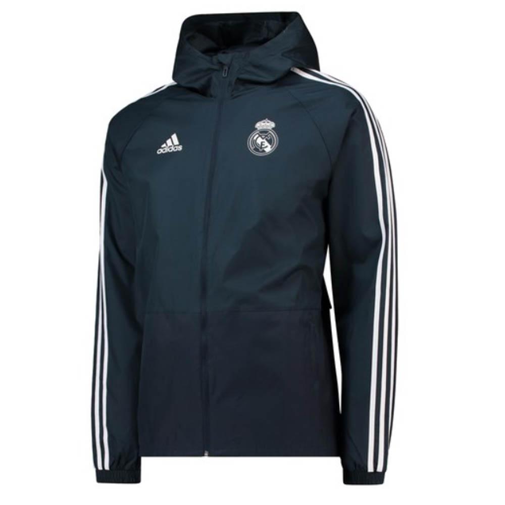 factory price ce291 7821f Real Madrid 2018-2019 Training Rain Jacket (Dark Grey)