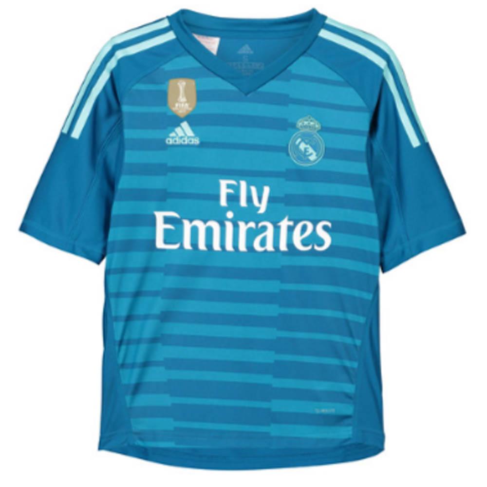 Real Madrid 2018-2019 Away Goalkeeper Shirt (Blue)  CG0578  -  66.25 ... 0225597bc