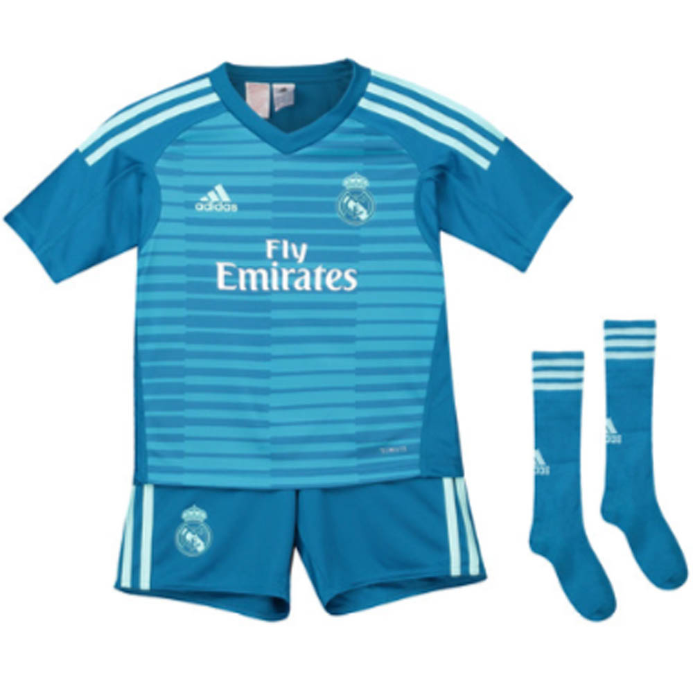 online store f53bc b01d2 Real Madrid 2018-2019 Away Goalkeeper Mini Kit