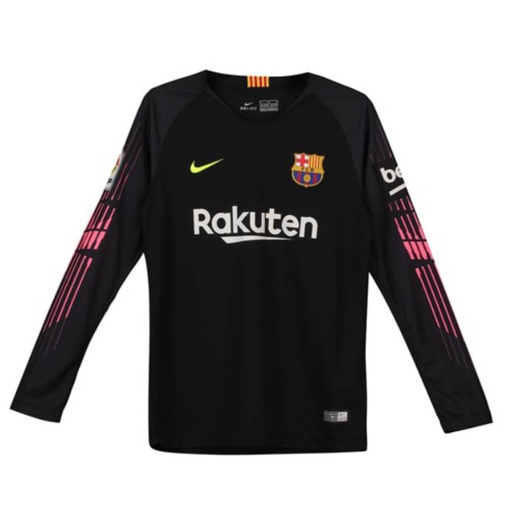 half off c5c0b 0b091 Barcelona 2018-2019 Goalkeeper Shirt (Black) - Kids