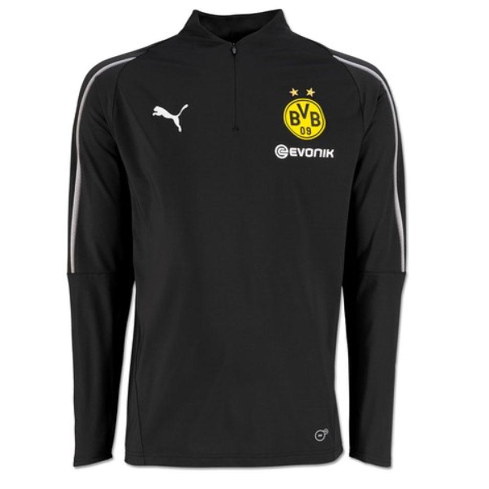 super popular 9cefc c816f Borussia Dortmund 2018-2019 Half Zip Training Top (Black)