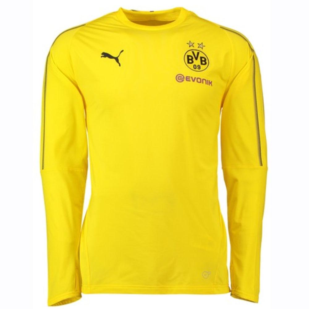new style d42f3 7198f Borussia Dortmund 2018-2019 Training Sweat Top (Yellow) - Kids