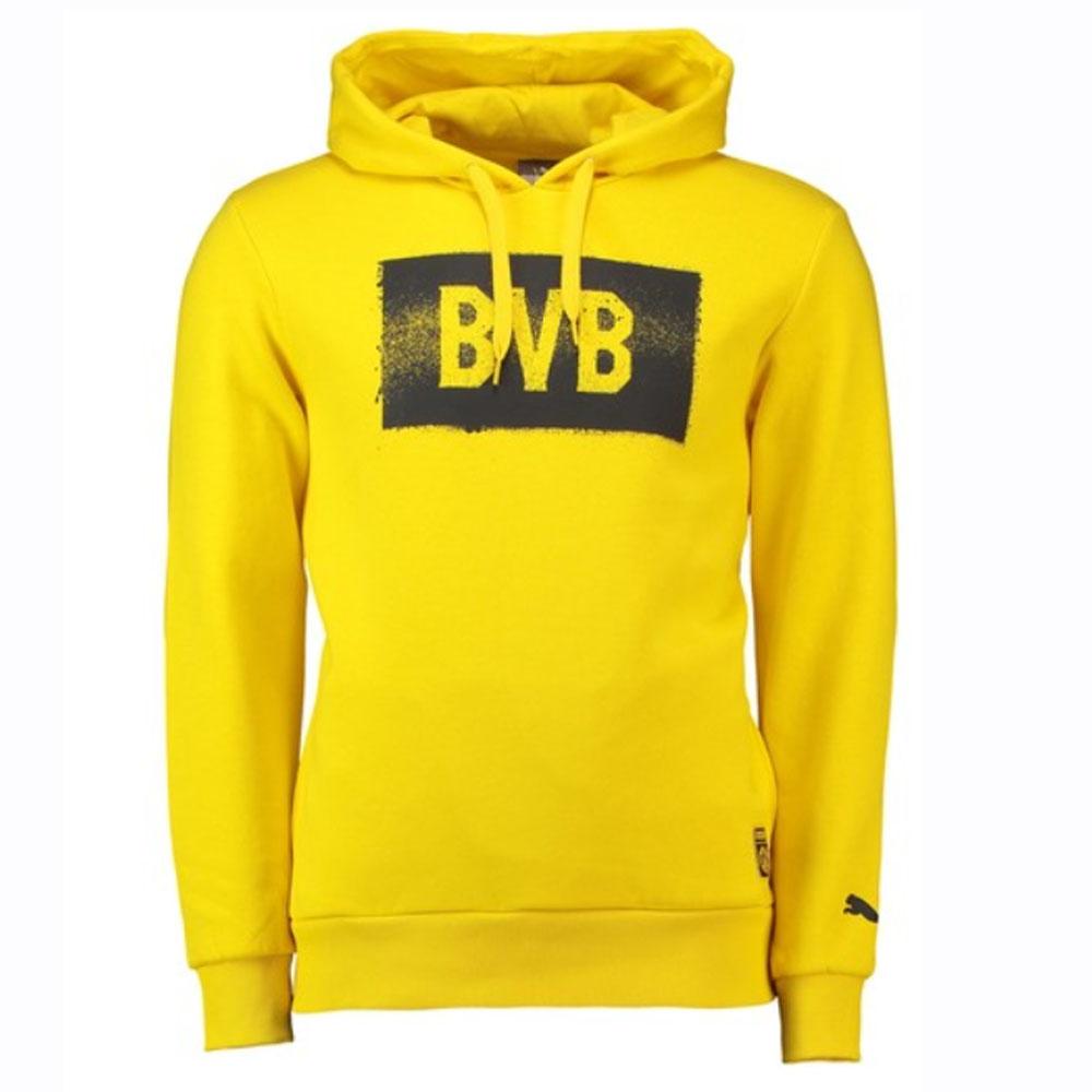 Borussia Dortmund 2018 2019 Stencil Hoodie (Yellow)