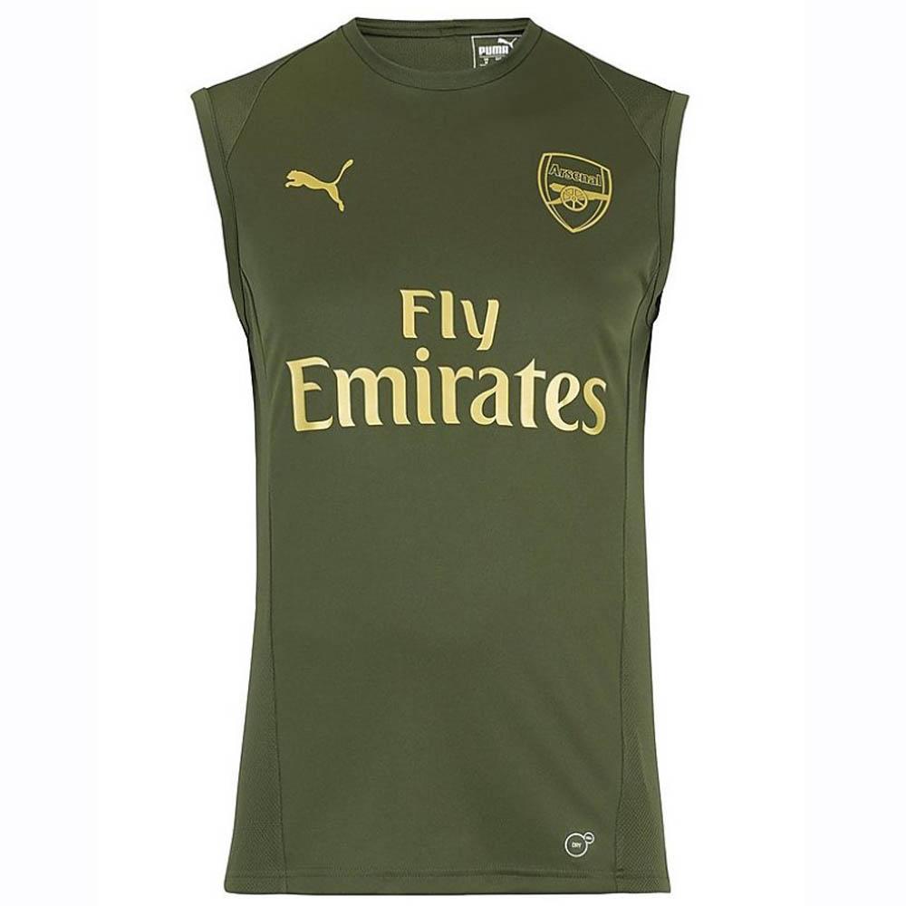 47f377825 Arsenal 2018-2019 Sleeveless Jersey (Forest Night)  75323302 ...