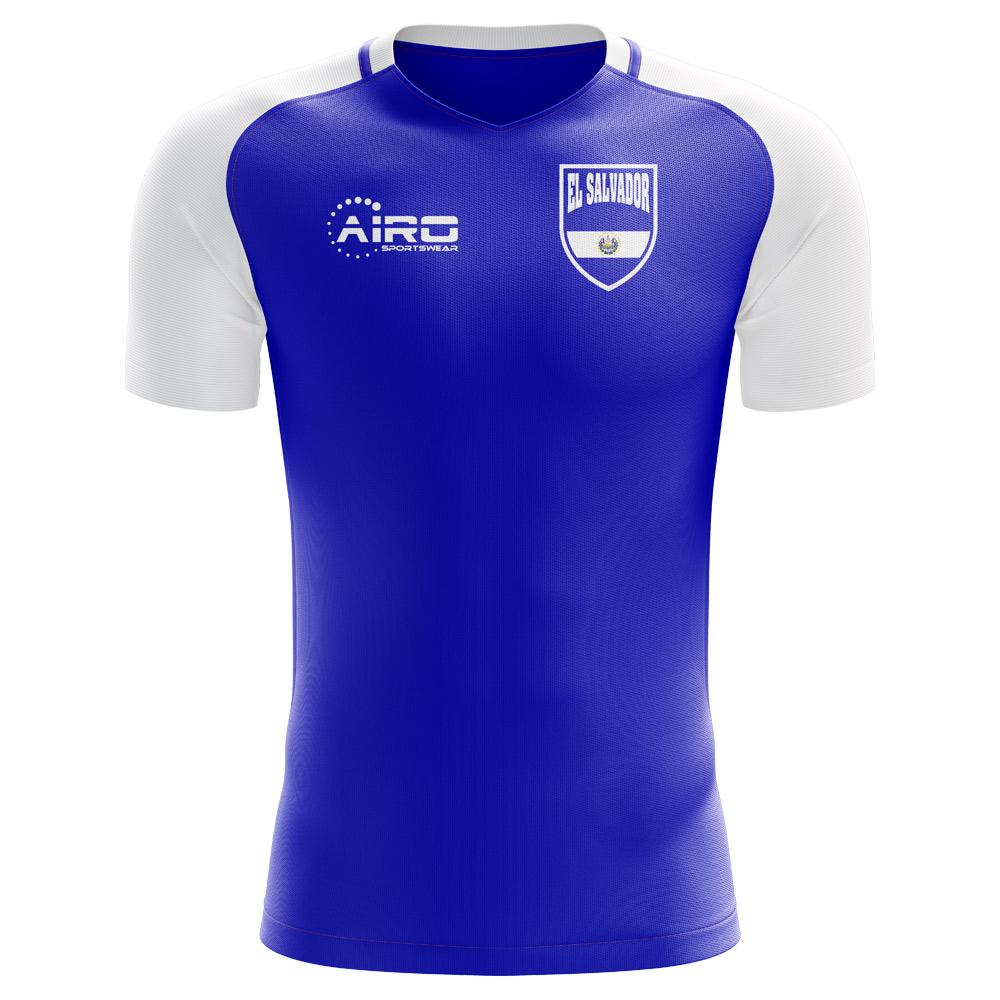 74e29610b65 El Salvador 2018-2019 Home Concept Shirt (Kids) [ELSALVADORHKIDS] - $63.60  Teamzo.com